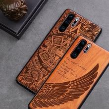 Huawei P30 Pro Case Boogic Original Wood funda P40 Pro Rosewood TPU Shockproof Back Cover Phone Shell Huawei P30 P40 Lite case