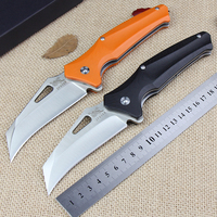 Newest Sale EA01 Folding Knife G10 Handle 9Cr18Mov Steel Blade Camping Hunting Knife Outdoor Tool