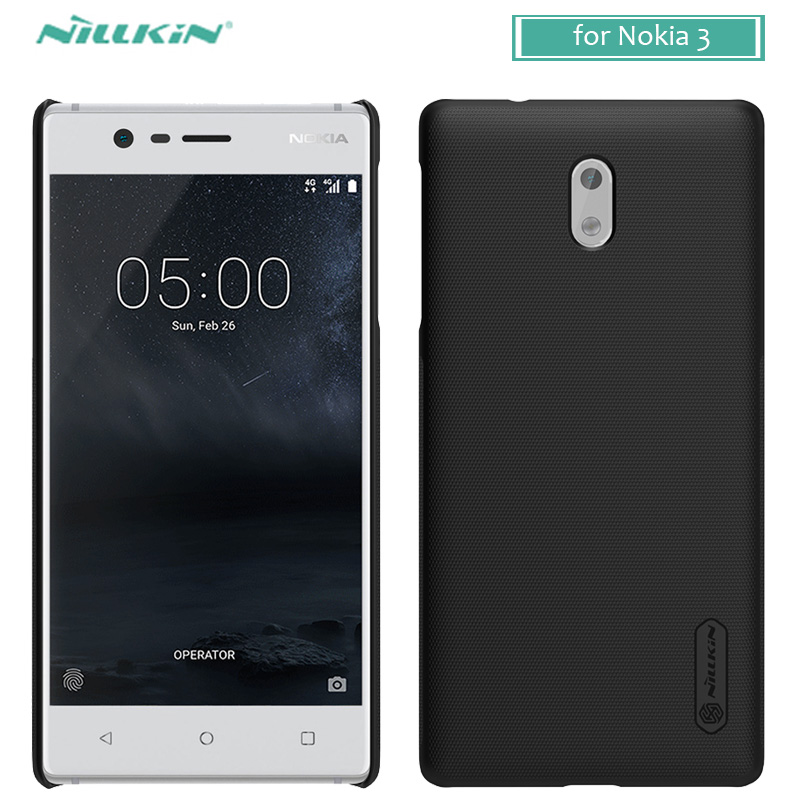 for Nokia 3 Case Nillkin Super Frosted Shield Hard Back PC Cover Case for Nokia 3 Nilkin Matte Phone Case +Screen Protector