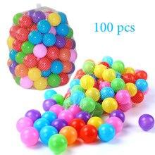 100 יח\אריזה צבעוני כדורי ידידותית לסביבה פלסטיק רך אוקיינוס כדור ילד לשחות בור Ballenbak צעצוע מים בריכת כדור תינוק צעצועים חוצות