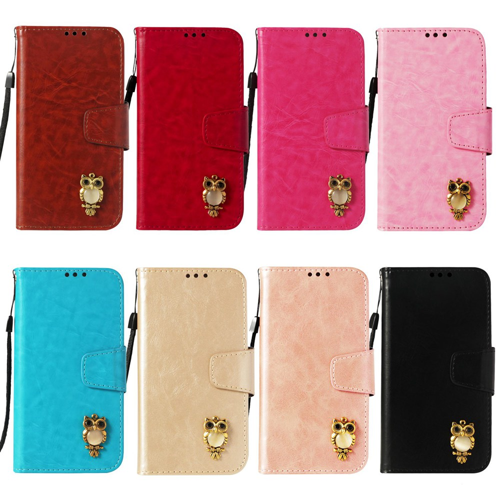 for LG K8 2017 Leather Case Cute 3D Owl PU Magnetic Phone Flip Cover Case for LG K8 2017 X240 Case 5.0 Inch Funda