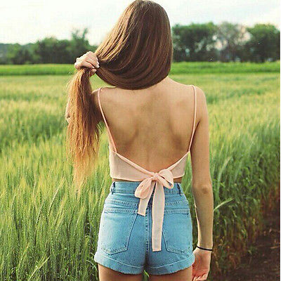 2017 Fashion Sexy Women Sleeveless Camisole Shirt Summer Casual Blouse Crop Exposed Navel Tops Bra Pink Black White