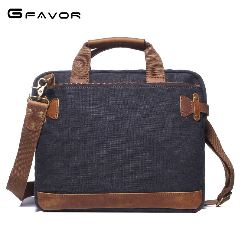 Vintage Canvas Handbag Men Business Laptop Bag Casual Shoulder Messenger Bags Male Computer Bag Fashion Travel Crossbody Bags vintage canvas shoulder travel bags men large casual men crossbody messenger travel bag leisure hand luggage travel bags 1062