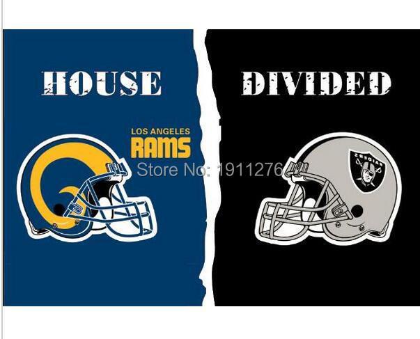 【3x5 ft Los Los Angeles Rams VS Oakland Raiders house ...