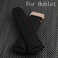 30*24*19mm 28*18*22mm Black Silicone Rubber Watch Strap Belt Watchband For HUBLO Big Beng Watch with Logo