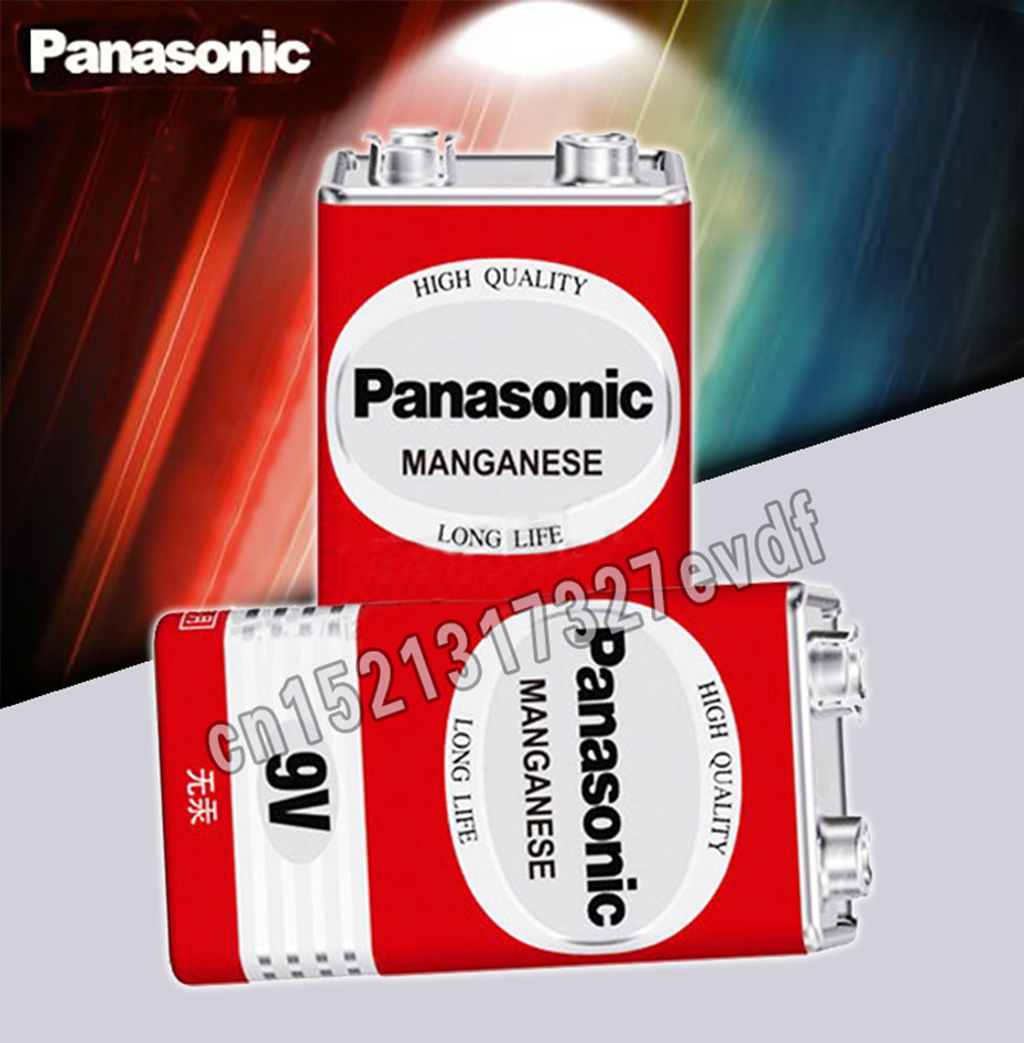 2 шт./лот, 100% натуральная Panasonic Greencell PP3 6F22 6LR61 MN1604, 9 в блок, сверхмощный аккумулятор