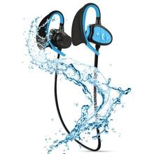 IPX8 водонепроницаемые беспроводные наушники Bluetooth наушники для CSR стерео гарнитура с микрофоном бас спорт бег наушники