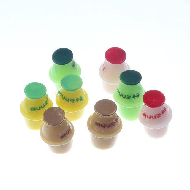 20-8Pcs 3D Resin Bottle Cabochon Crafts Embellishments For Fairy Garden Figurines & Miniatures Home Decoration Accessories Diy 1