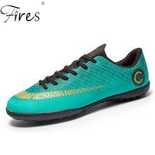 Incendios hombres Chuteira Futebol césped zapatos de fútbol deportes para  hombres cómodo interior impermeable fútbol Sneaker 1997b5a3ba6eb