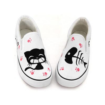 Cat Slip-on Sneakers
