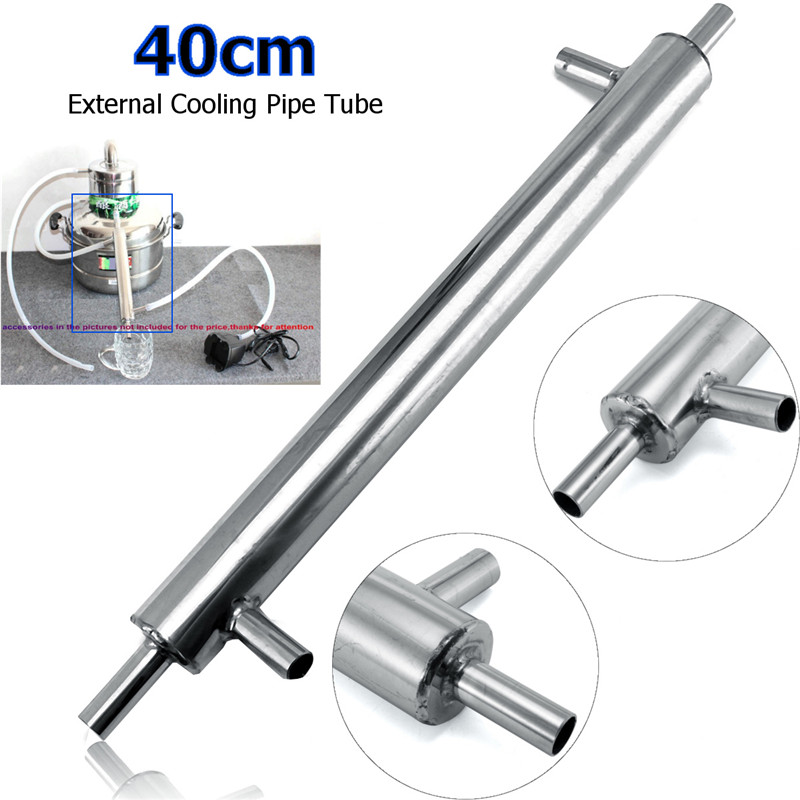 Stainless Steel Cooler Brew Distiller Condenser External Cooling Pipe Tube For Home Brewery Bar Tools