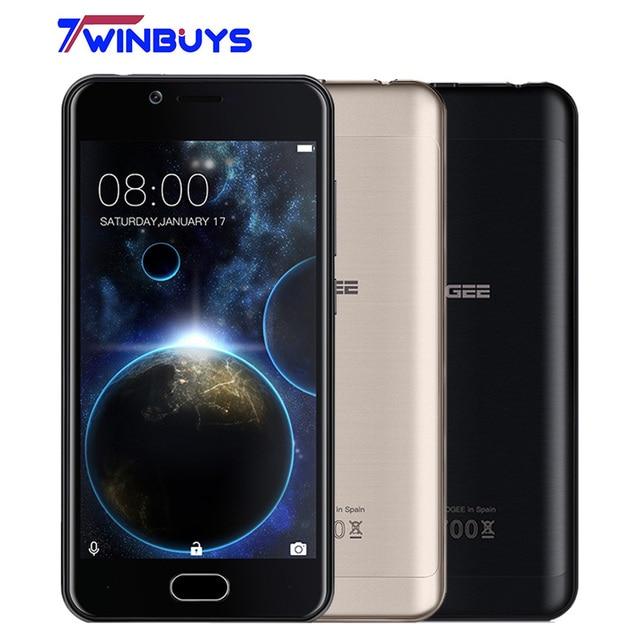 """Doogee Shoot 2 Smartphone 3G 5.0"""" HD Android 7.0 MT6580A Quad Core 1GB+8GB dual rear camera 5MP 3000mAh Fingerprint Mobile phone"""