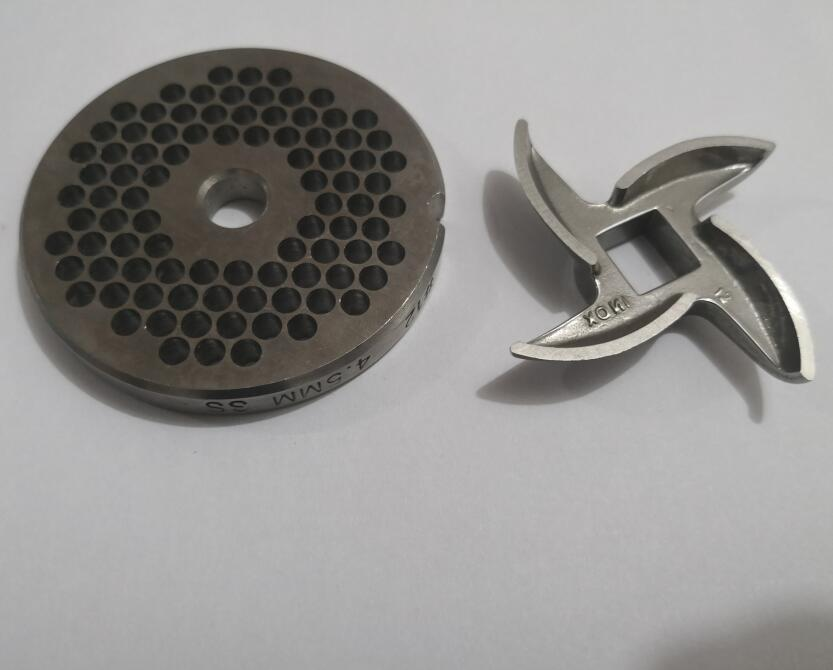 stainless steel meat grinder parts meat hole plate and blade #12 69mm 4.5MM цены