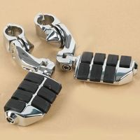 Motorcycle Universal 32mm Adjustable Highway Footrest For Honda Kawasaki Suzuki Yamaha Harley