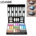 Naked ucanbe 27 cores da paleta da sombra profissional maquiagem nude matte maquiagem brilho sombra de olho com escova beleza ferramenta kits