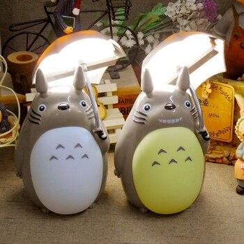 Kreatywny Cartoon parasol styl Totoro lampka nocna LED lampki nocne lampki nocne na prezent urodzinowy dla dzieci wystrój pokoju czarny piątek