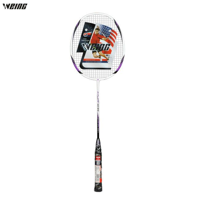 WEING Professional Carbon Badminton Racket Lightweight Anti-skid Handle Sports Competition Badminton Racket