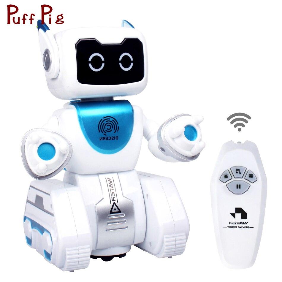 360 degrés de Rotation Marcher Danse RC Robot Avec Anglais Musique Intelligente Radio Contrôle Action Figure Jouets Pour Enfants Garçons