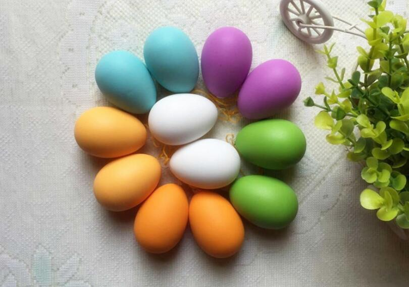 Free shipping,6*4.2cm,100pcs,mix color,Easter Decorative Egg DIY Plastic Hand painted Mold Cup Children s Drawing Toy Head