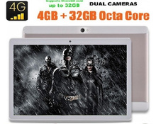 2017 Más Nuevo tablet pc de 10 pulgadas Android 6.0 Octa Core 3G 4G LTE 4 GB RAM 64 GB ROM Tarjeta Dual SIM IPS 1920*1200 tabletas PC 10.1