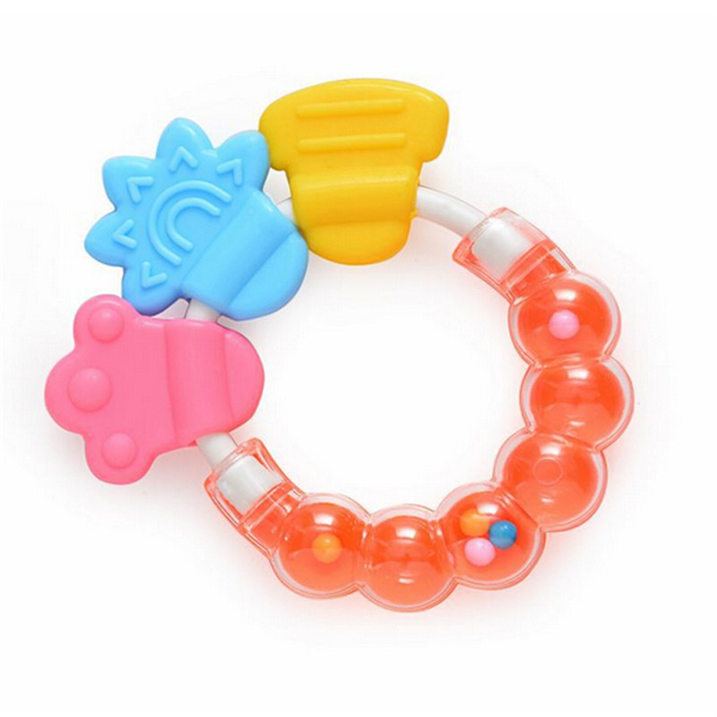 Hot Baby Educational Toys baby teether cartoon teeth biting for babies Baby Rattle Toy For Bed Bell With Teether #10