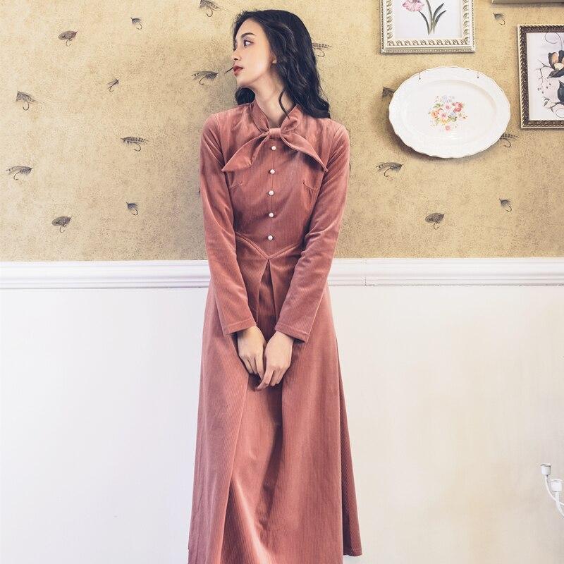 Automne Pour Adultes 2019 Perle Et Vêtements D\u0027hiver Femmes Jupe Rétro  Nouvelles Longue Rose Boucle Mode