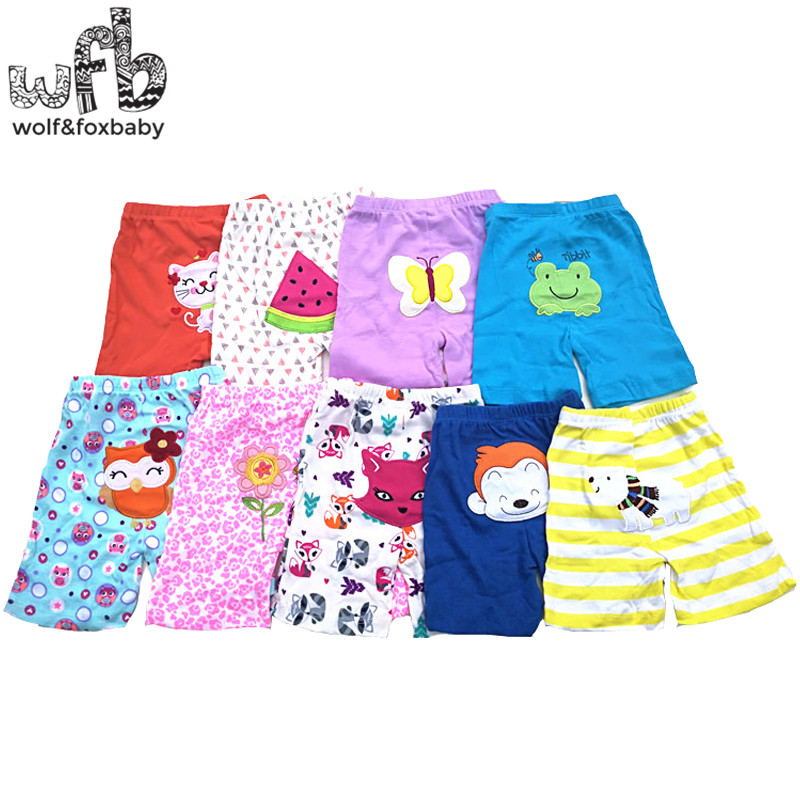 Retail 5pcs/lot 0-24months PP pants   shorts   trousers Baby Infant cartoon for boys girls Clothing newborn clothes kid wear summer