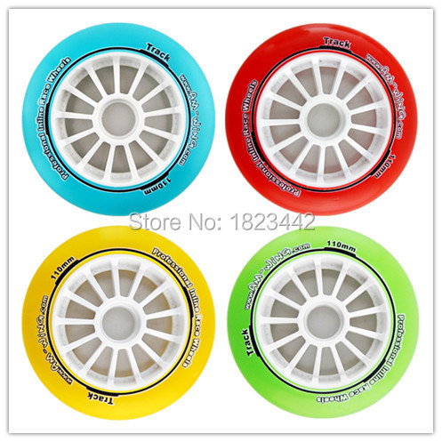 In StockCrystal professional inline race wheels skating Wheels 90mm/100mm/110mm Speed skating Wheels inline duo 7квт киев
