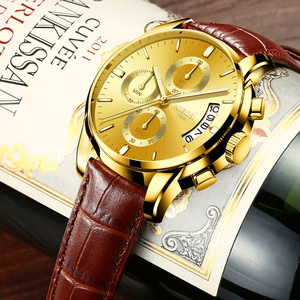 Image 3 - Moda męski zegarek biznesowy NIBOSI marka Sport zegarki kwarcowe wodoodporne zegarki skórzany pasek dla biznesu Relogio Masculino