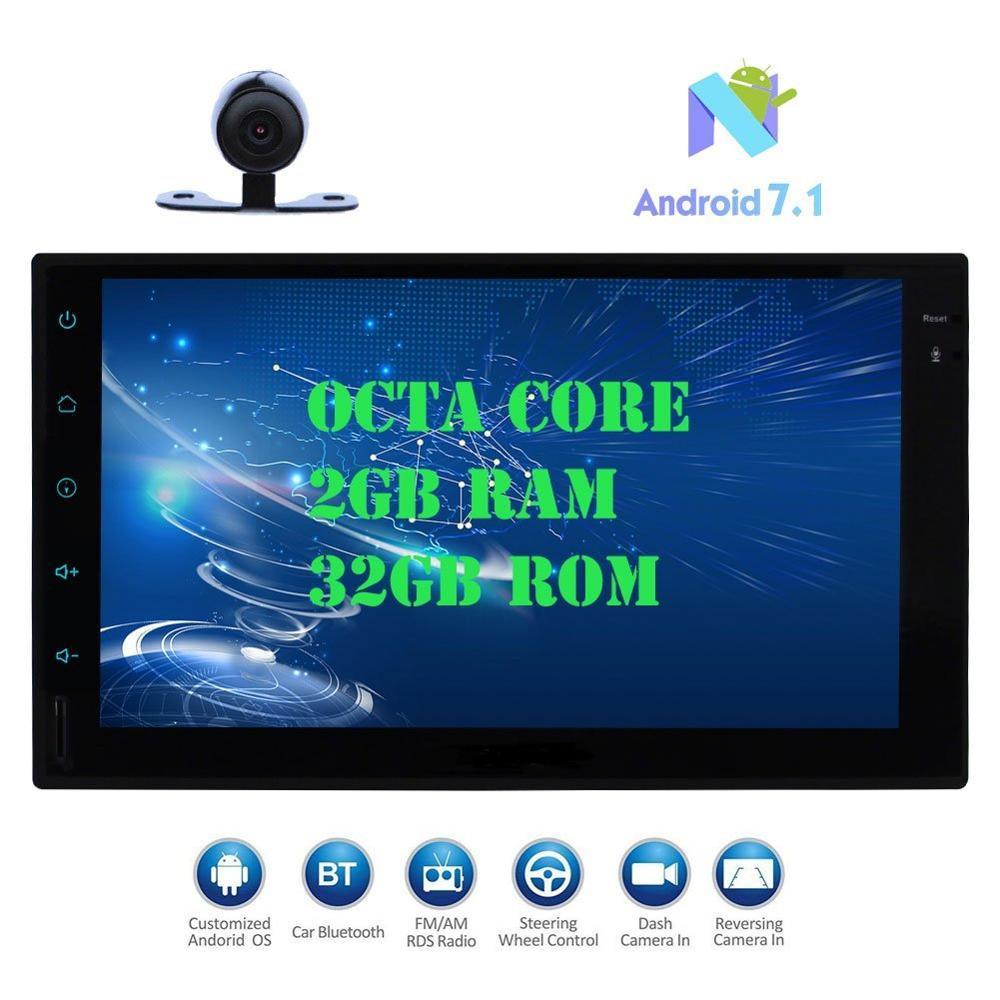 Android 7.1 автомобилей Pad Планшеты PC Радио стерео Восьмиядерный 2 ГБ + 32 ГБ Авто Радио 2din авто GPS в тире 7 мультимедийный плеер + резервного копиров