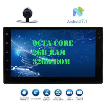 Android 7.1 Car Pad Tablet PC Radio Stereo Octa-core 2GB+32GB Autoradio 2Din Auto GPS In Dash 7 Multimedia cassette recorder image