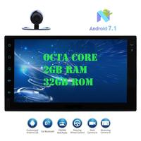 Android 7.1 Car Pad Tablet PC Radio Stereo Octa core 2GB+32GB Autoradio 2Din Auto GPS In Dash 7 Multimedia Player+Backup Camera