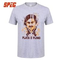 T Shirt Plata o Plomo Narcos Adolescente Collare Tondo Corto manica Corta Tee Manica Casa Wear Uomini Geek T-Shirt Gun top