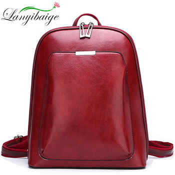 2019 Women Leather Backpacks For Girls Sac a Dos School Backpack Female Travel Shoulder Bagpack Ladies Casual Daypacks Mochilas - DISCOUNT ITEM  42% OFF All Category