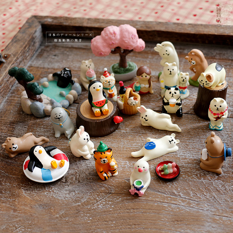 1:12 Japan Kawaii Cartoon Cat Calico Cat Maneki Neko Miniature Home Dinner Figure Decoration Tv Seat Fan Tatami Stool Toy