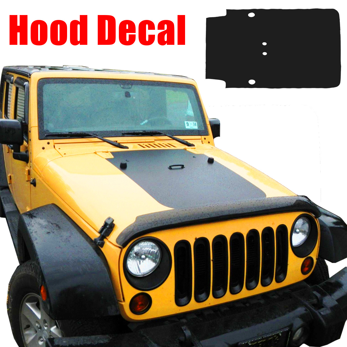 Car hood decal for jeep for wrangler jk 07 18 matte black hood sticker waterproof car auto front body hood sticker 83x45cm
