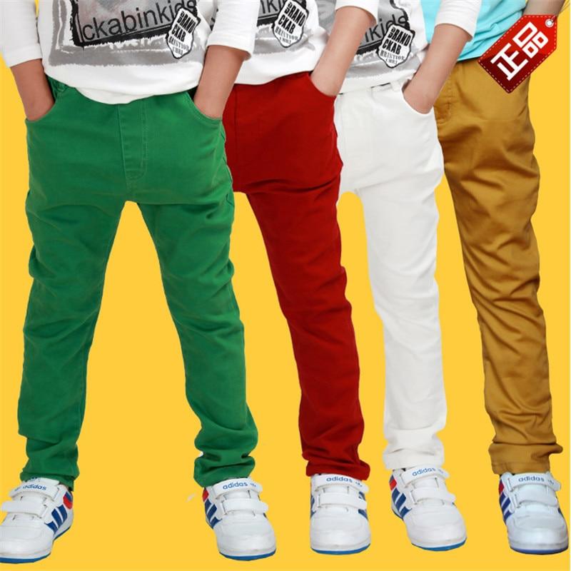 Boys Multi-Color Elastic-Waist Pants