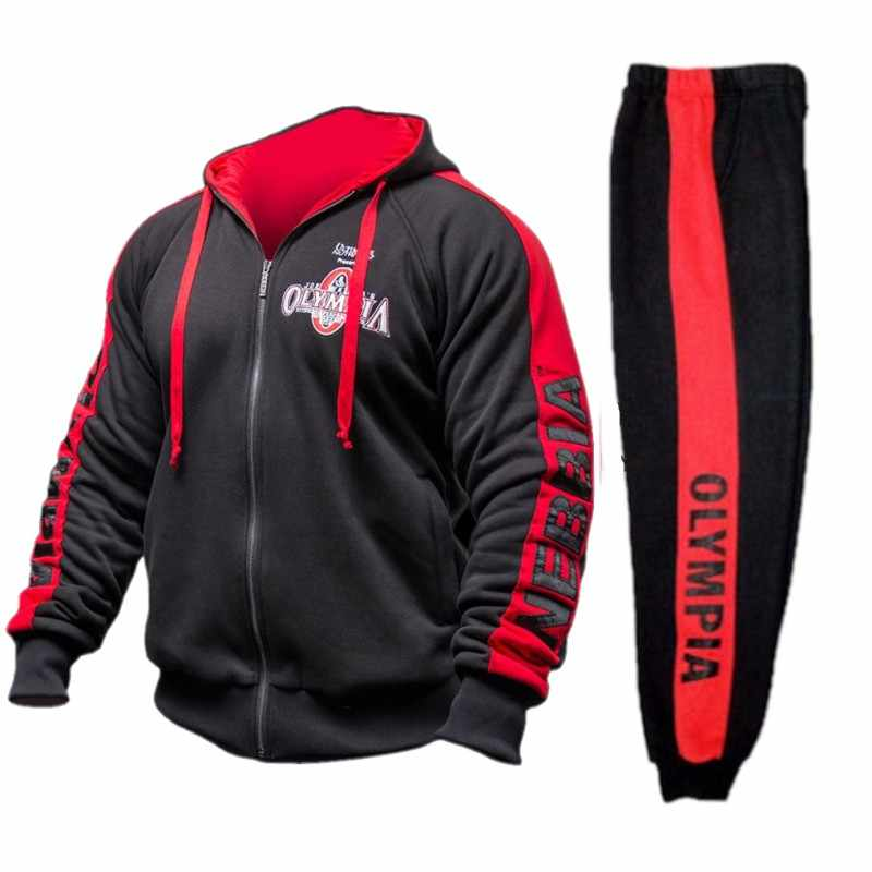 55bd82fcda9 2018 brand sporting suit men warm hooded tracksuit track polo men s sweat suits  set letter print