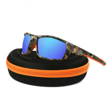 Camo Frame Sun Glasses Polarized Lens Men Fishing Sports Outdoor Bike Bicycle UV400 Sunglasses Eyewear
