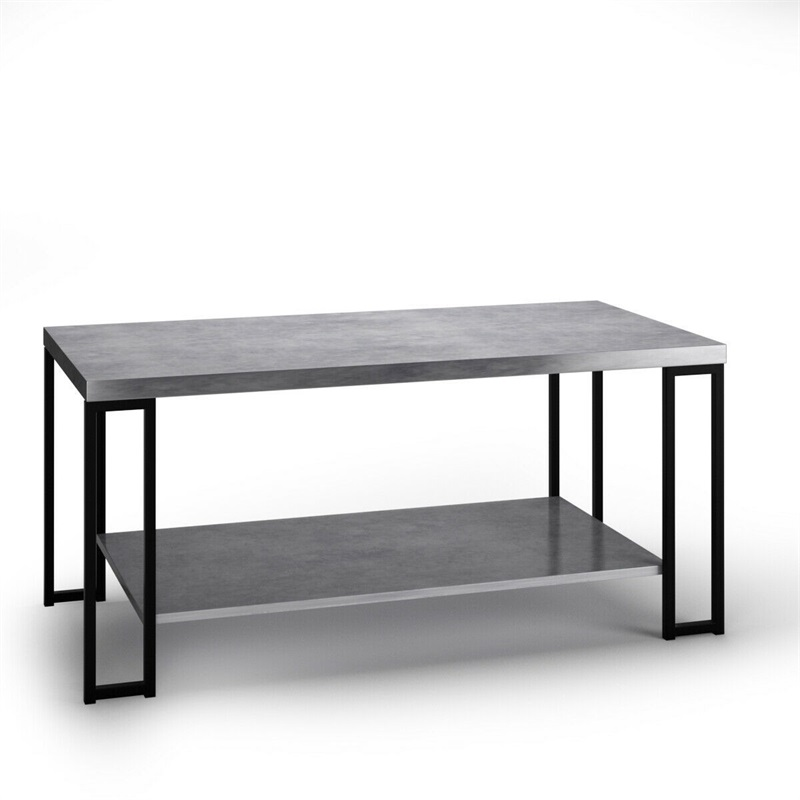Us 82 22 45 Off Accent Tail Table Coffee W Storage Shelf Trendy Marble Look Strong Construction Large Weight Capacity Hw58608hw In