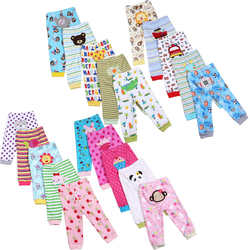 5pcs Lot Baby Gril Pants Embroidered Animals Baby Pants 100 Cotton Infant Trousers Children s Pants