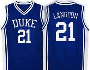 on sale 3df9b 582bb 21 Trajan Langdon Duke Blue Devils Jersey Blue,white Retro ...
