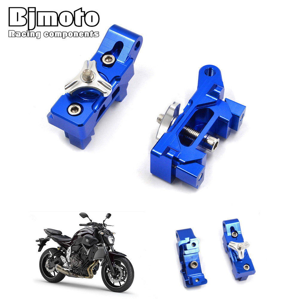 Pair MT07 Motorcycle CNC Aluminum Rear Axle Spindle Chain Adjuster Blocks for Yamaha MT-07 2013-2016 FZ-07 2015-2016