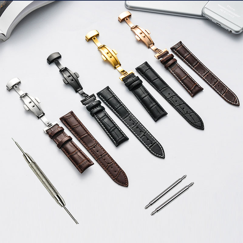 New High quality Genuine leather watchband 16MM 18mm 19mm 20mm 21mm 22mm leather strap for Tissot watch with folding buckle new arrival handmade blue cowhide leather watchband strap 16mm 18mm 20mm 22mm watch accessories rosegold buckle metal clasp