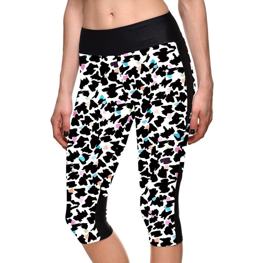 New 1106 Sexy Girl Women scrawl Bird leopard 3D Prints Workout stretchy font b Fitness b