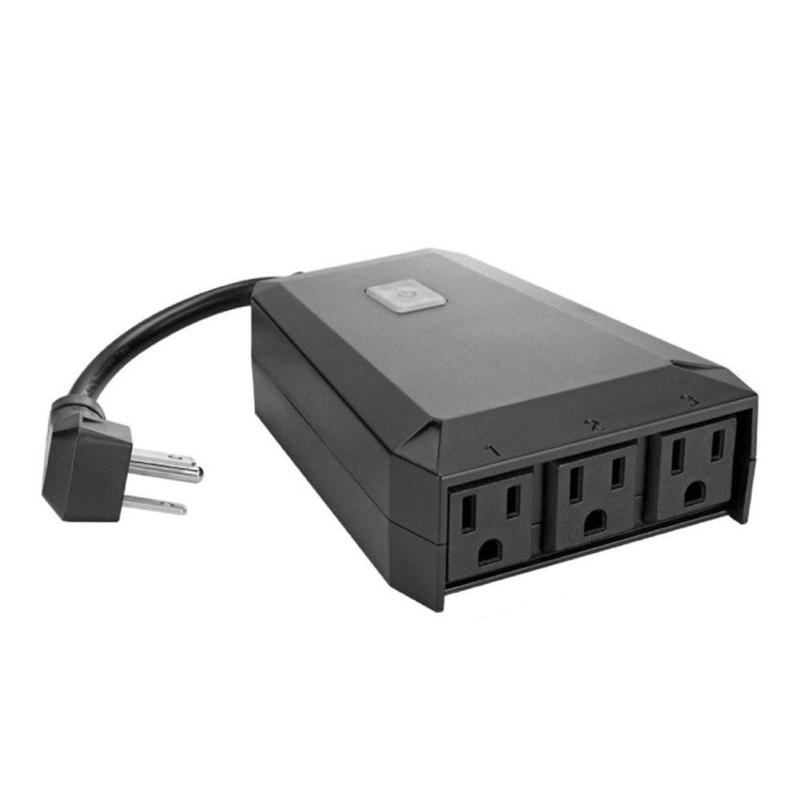 1pc Outdoor Outlet Home Switch Socket Smart Energy Saving Smart Plug Socket Power Supply Plug 3 US Type AC Outputs Outdoor Use new arrival intelligent digital power electricity saving box smart led energy saver energy saving device us uk eu plug top sale