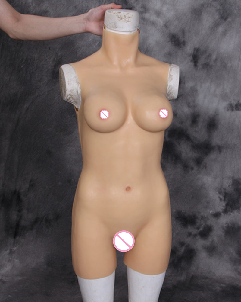 D Cup Silicone Tight Dress Cross Dressing Costume Props Siamese TG Real Silicone Breast Forms Vagina Crossdress Breast Implants цена 2017