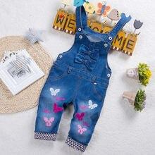 Детские модные джинсовые комбинезоны diimuu для девочек детская