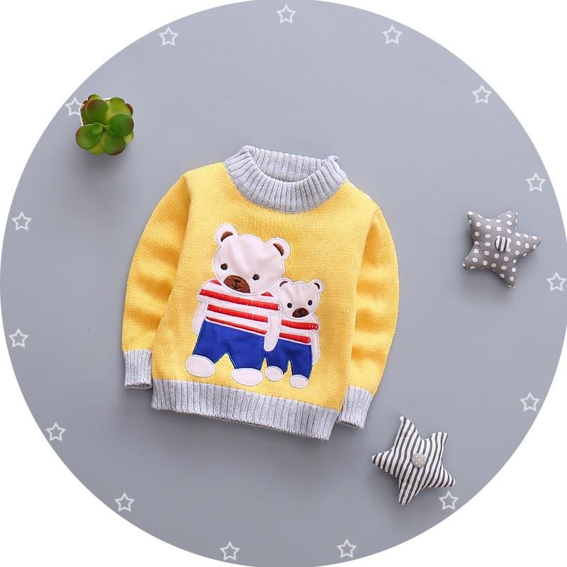 3d00d8fc781a BibiCola baby girls boys autumn winter wear warm cartoon sweaters ...