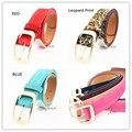 Venta caliente 2017 Nueva Moda Salvaje Cinturón Hebilla de Cinturón de Cuero de Cachemira Decoración Cerdo Del Color Del Caramelo Cinturones de Marca Para Mujer